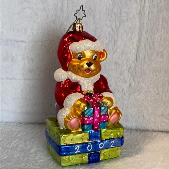 Fitz and Floyd Vintage Christmas Bear 2002